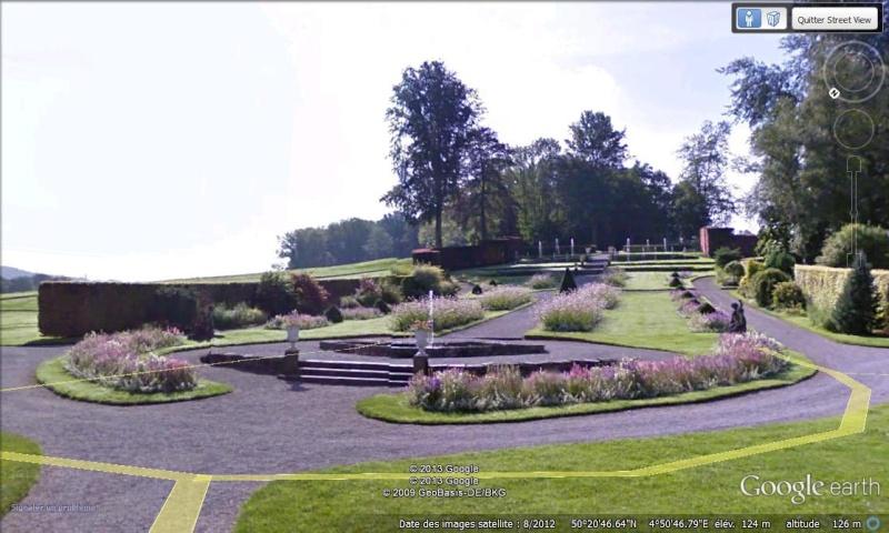 STREET VIEW : les parcs de grands châteaux de Belgique désormais disponibles ! Annevo11