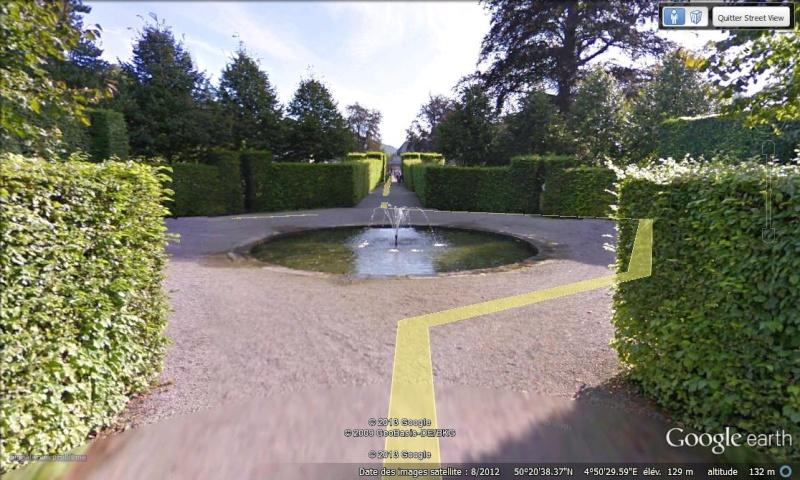 STREET VIEW : les parcs de grands châteaux de Belgique désormais disponibles ! Annevo12