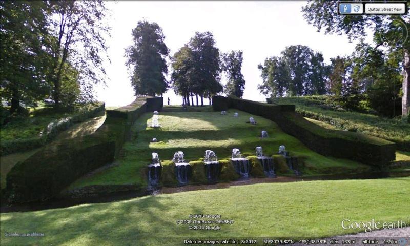 STREET VIEW : les parcs de grands châteaux de Belgique désormais disponibles ! Annevo14