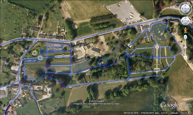 STREET VIEW : les parcs de grands châteaux de Belgique désormais disponibles ! Annevo16