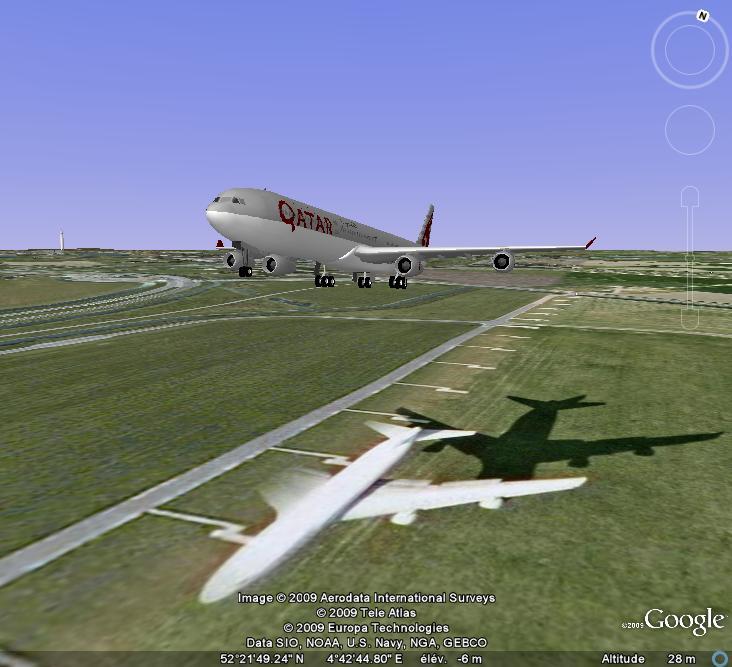 Avion qui atterrit , EN 3D ! Avions11