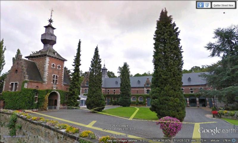 STREET VIEW : les parcs de grands châteaux de Belgique désormais disponibles ! Jehay_11
