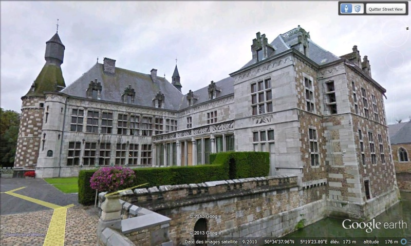 STREET VIEW : les parcs de grands châteaux de Belgique désormais disponibles ! Jehay_12