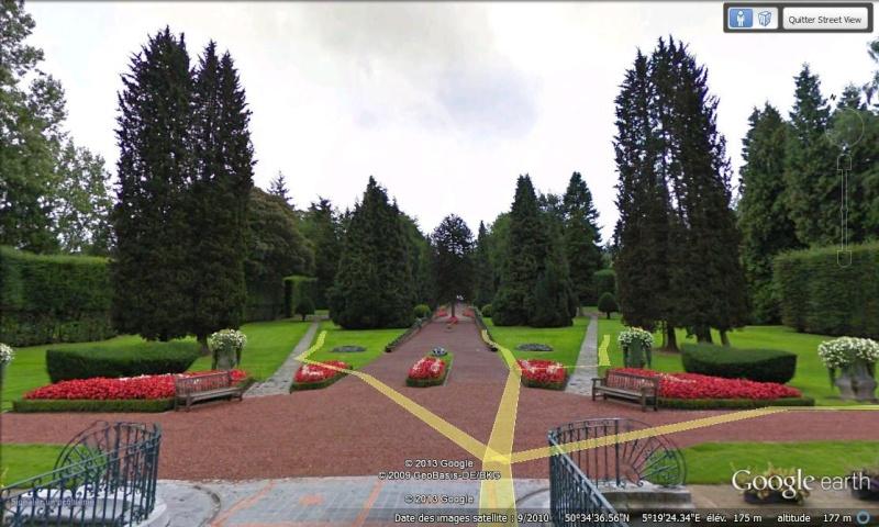 STREET VIEW : les parcs de grands châteaux de Belgique désormais disponibles ! Jehay_13
