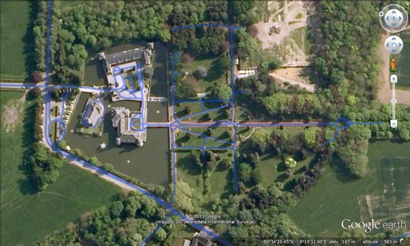STREET VIEW : les parcs de grands châteaux de Belgique désormais disponibles ! Jehay_15