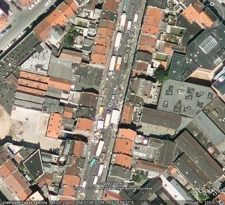 Marchés et Brocantes sur Google Earth Marcha13