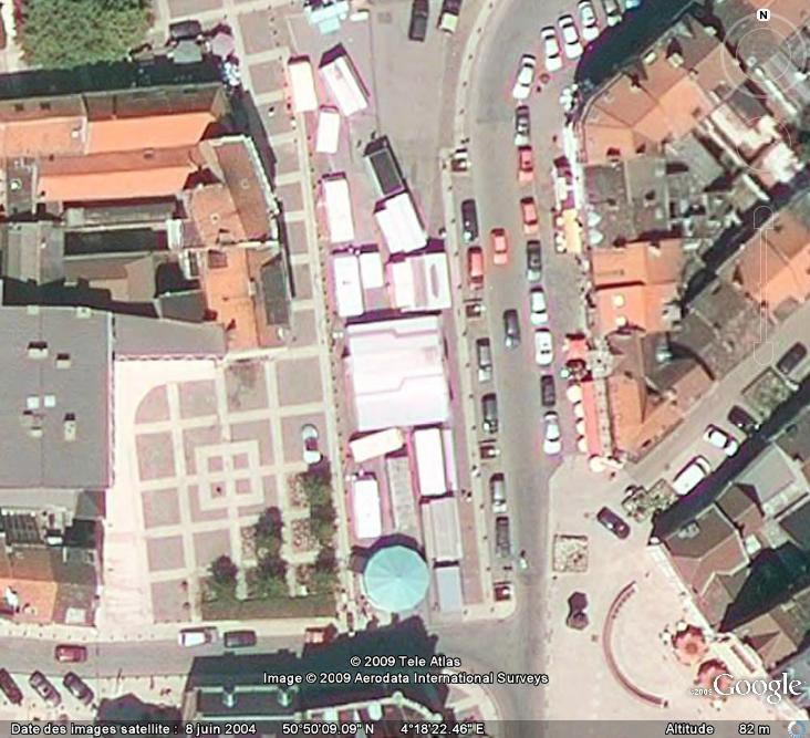 Marchés et Brocantes sur Google Earth Marcha14