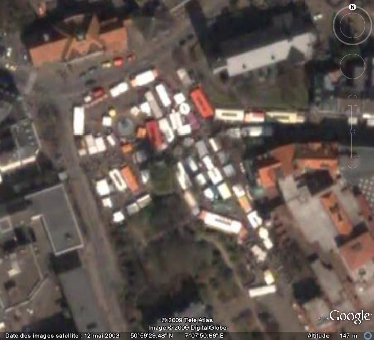 Marchés et Brocantes sur Google Earth Marcha19
