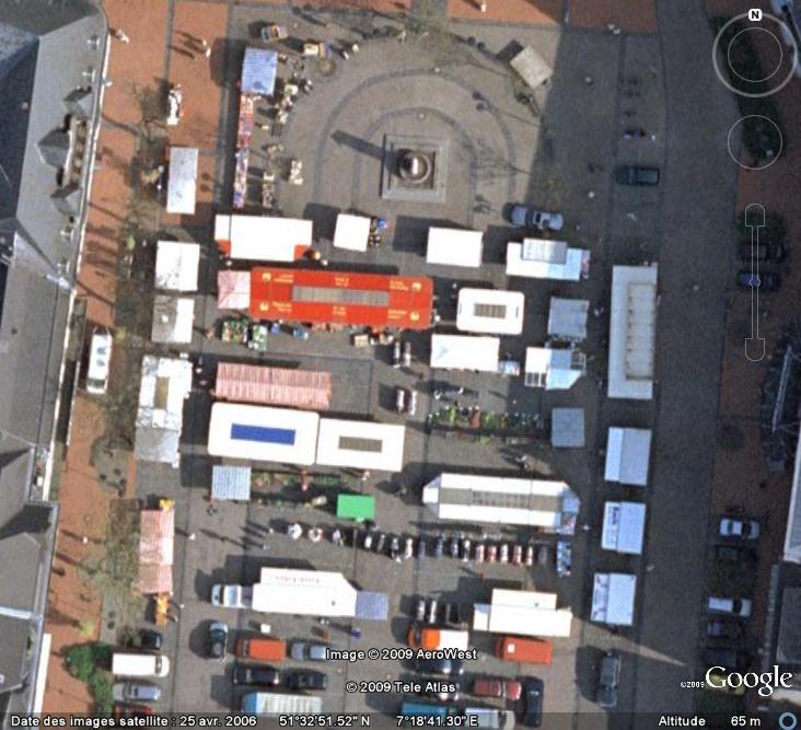 Marchés et Brocantes sur Google Earth Marcha24