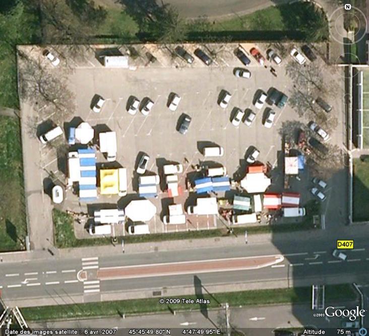 Marchés et Brocantes sur Google Earth Marcha25
