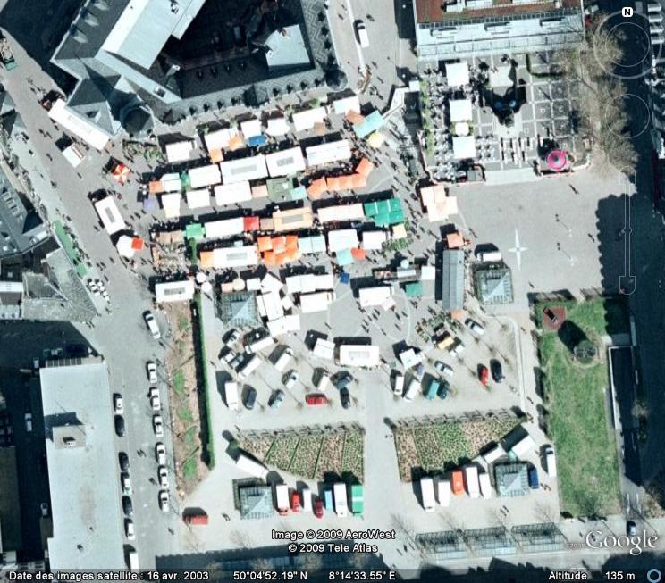Marchés et Brocantes sur Google Earth Marcha28