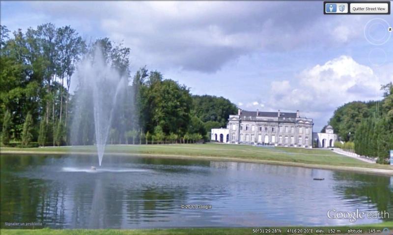 STREET VIEW : les parcs de grands châteaux de Belgique désormais disponibles ! Seneff11