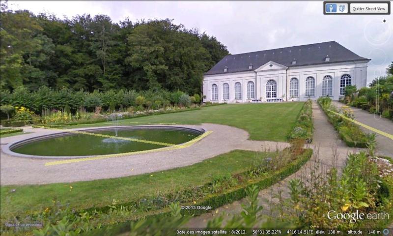 STREET VIEW : les parcs de grands châteaux de Belgique désormais disponibles ! Seneff12