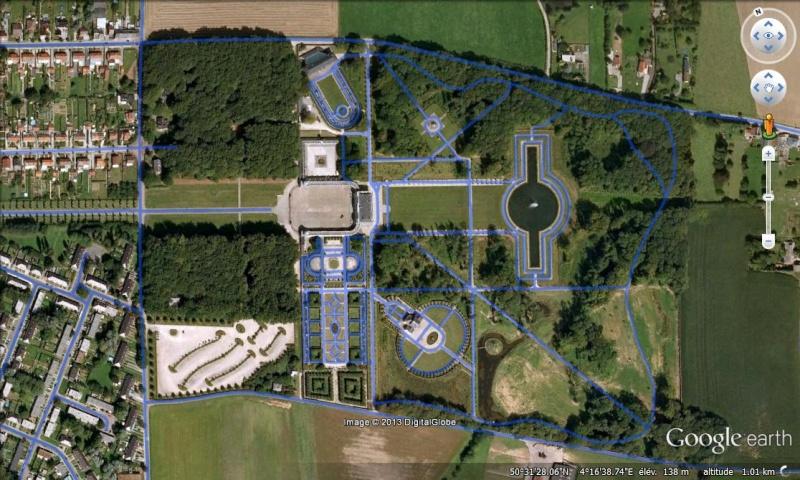 STREET VIEW : les parcs de grands châteaux de Belgique désormais disponibles ! Seneff14