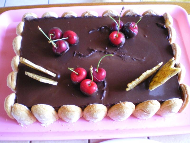 chocolat - Entremet aux 3 chocolats et son miroir de chocolat noir - Page 3 Imgp2410