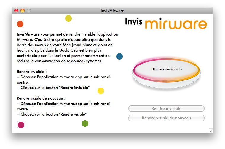 [Mac] Rendre mirware invisible : InvisMirware Captur10