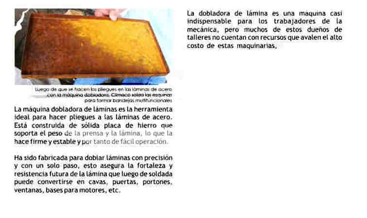 Concepto básico de la Dobladora de Lámina (chapa) Metálica Doblad13