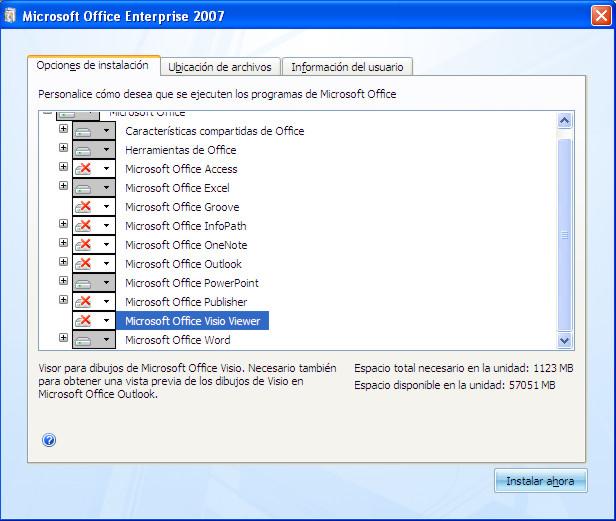 No instalar o desinstalar programas de M. Office Office14