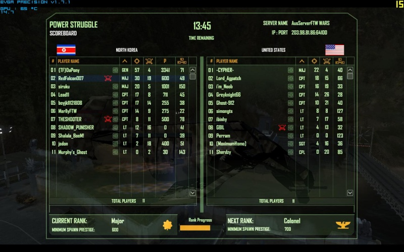 Falcon's Best Scores Crysis11