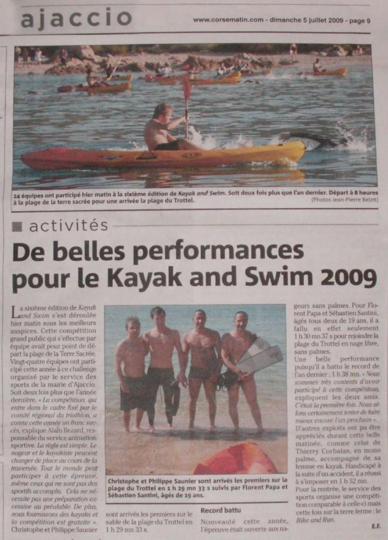 Kayak & swim à Ajaccio Articl10