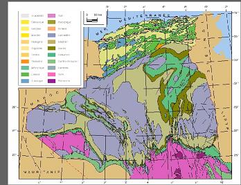 Carte géologique de l'Algérie Aglr10