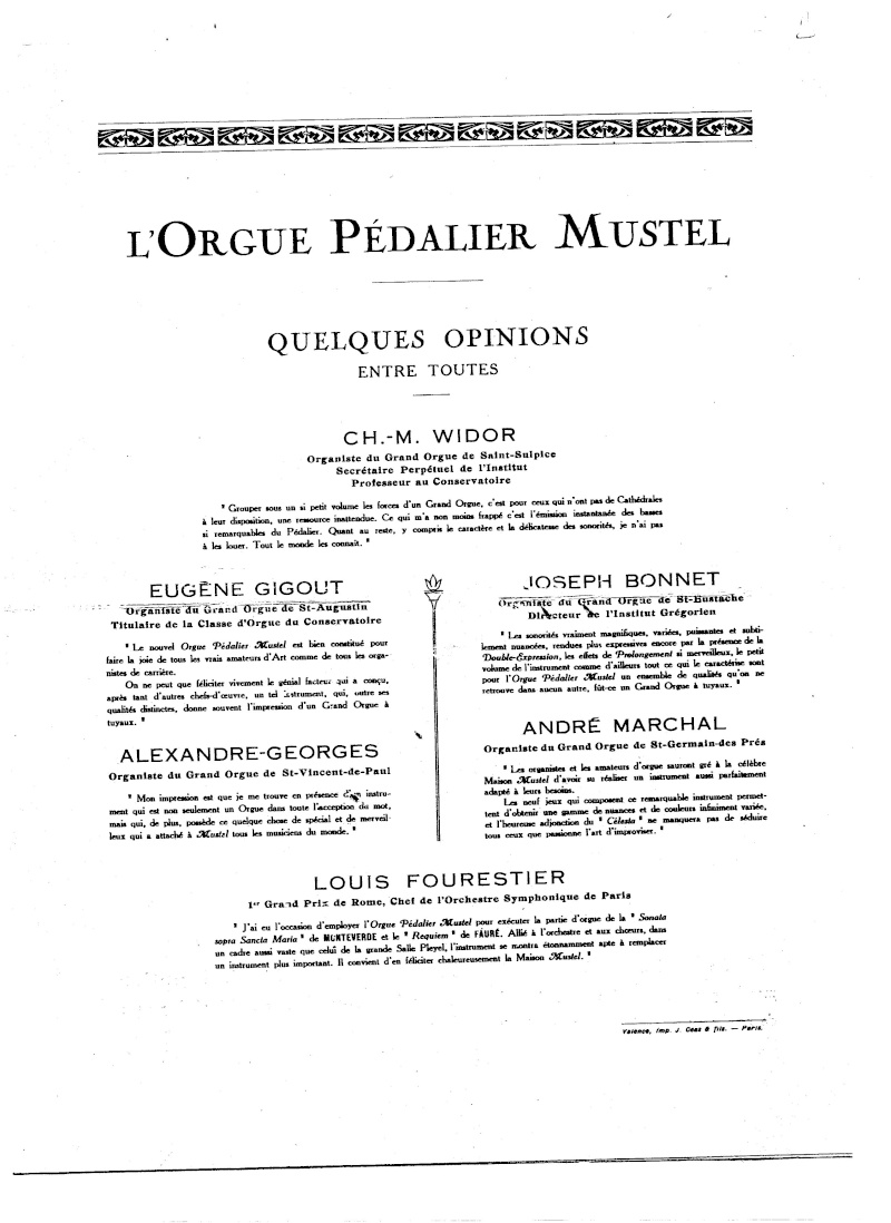 MUSTEL N°9 ... de 1930 ... Orgue pedalier .... recherche Infos. Page_610