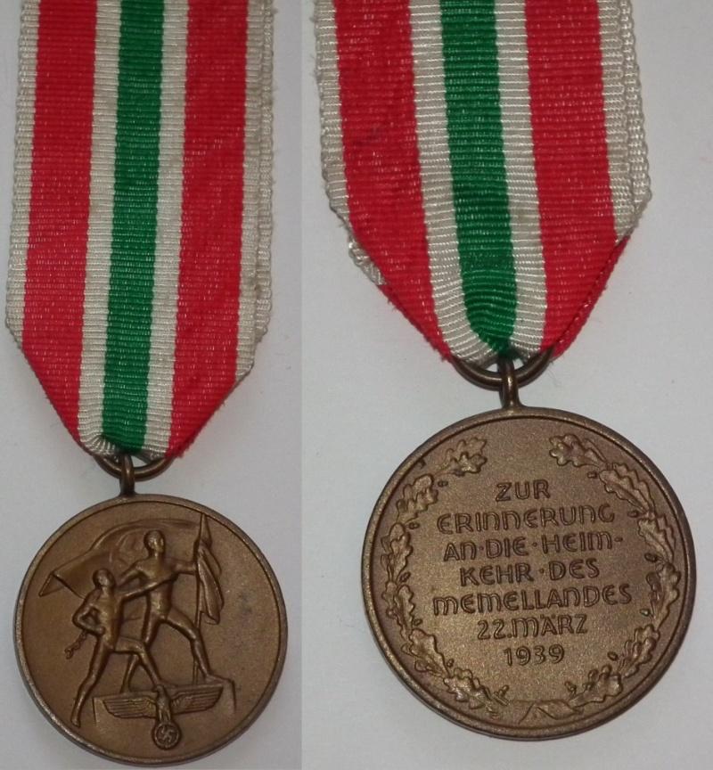 Vos décorations militaires, politiques, civiles allemandes de la ww2 - Page 3 Memel10