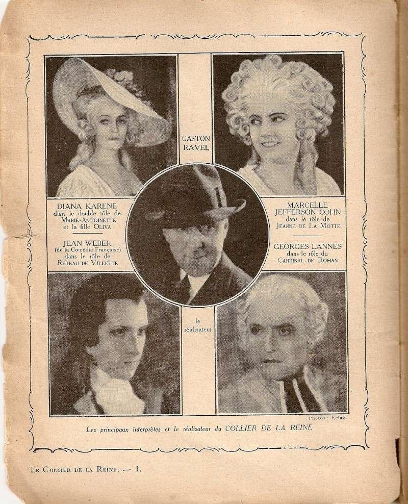 Le Collier de la Reine (Diane Karenne) de Tony Lekain et Gaston Ravel (1930) Numari14