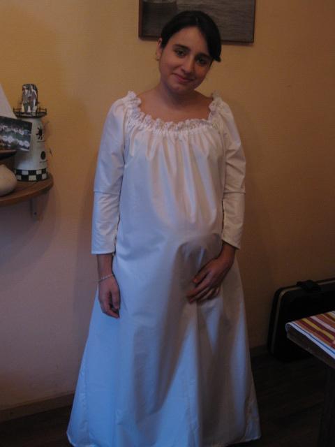 [MEDIEVAL] Robe pour femme enceinte avec le Simplicity S2573 Coutur12
