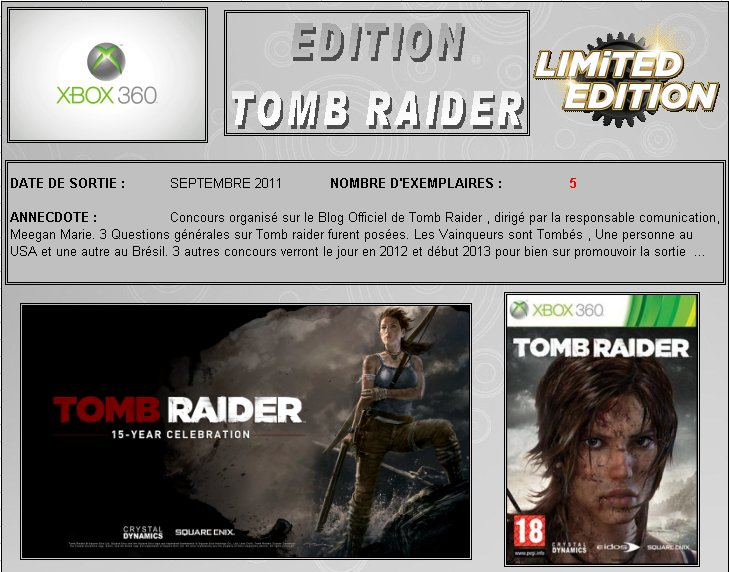 XBOX 360 : Edition TOMB RAIDER Croft_10