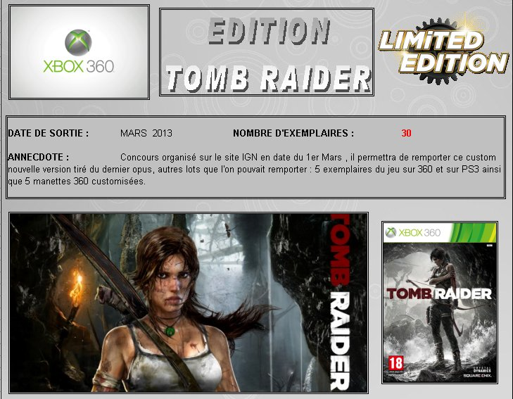 XBOX 360 : Edition TOMB RAIDER Croft_14