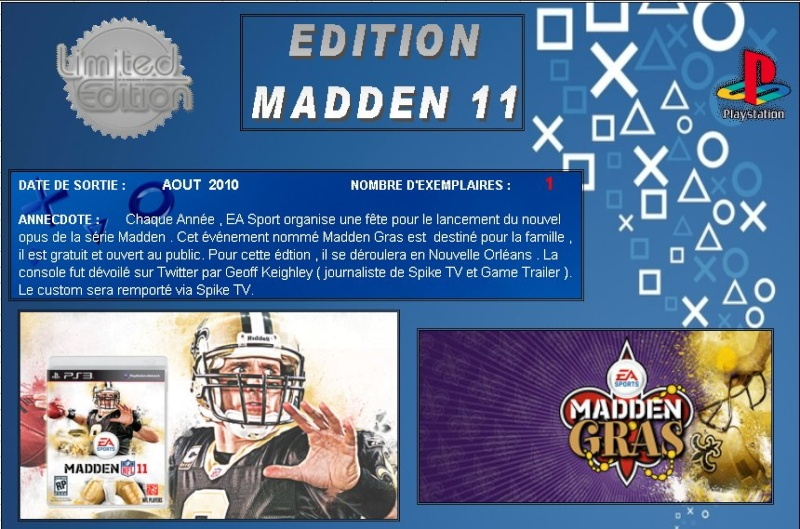 PLAYSTATION 3 : Edition MADDEN 11 Madden10