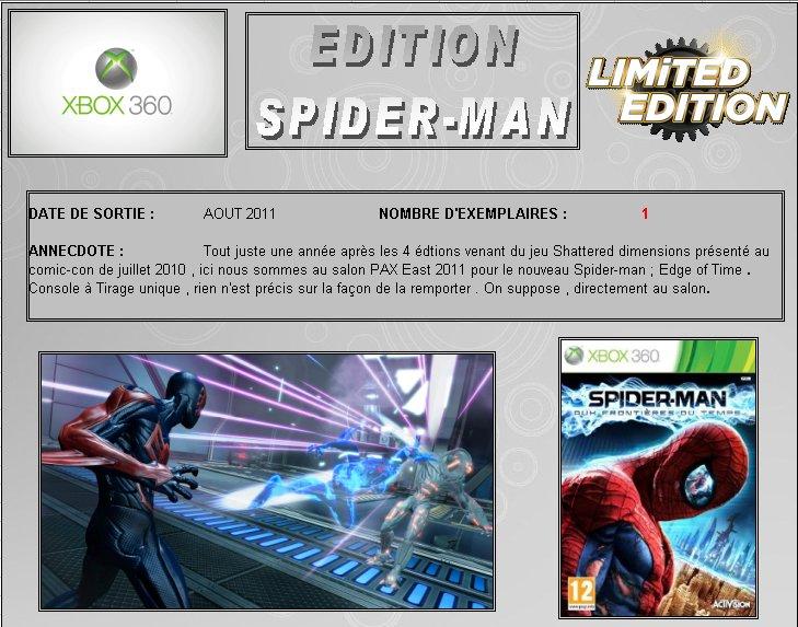 XBOX 360 : Edition SPIDER-MAN version 2011 Spider16