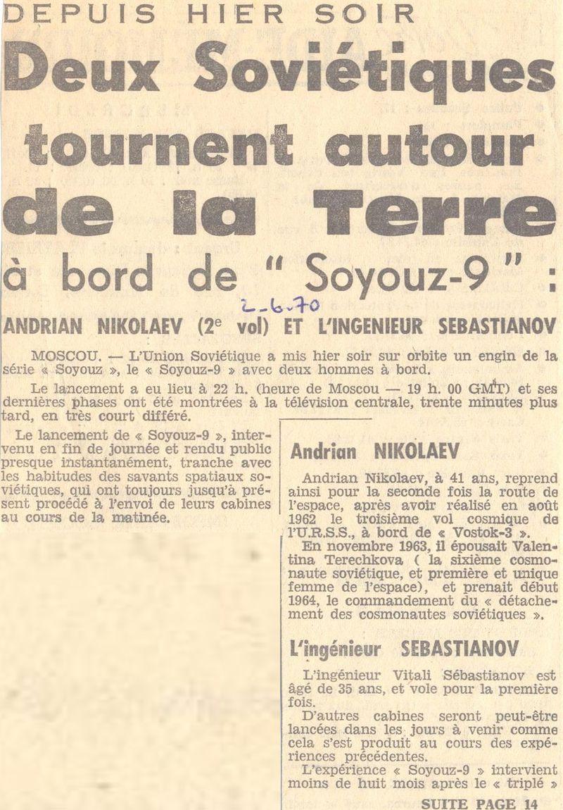 1er juin 1970 - Soyouz 9 70060210