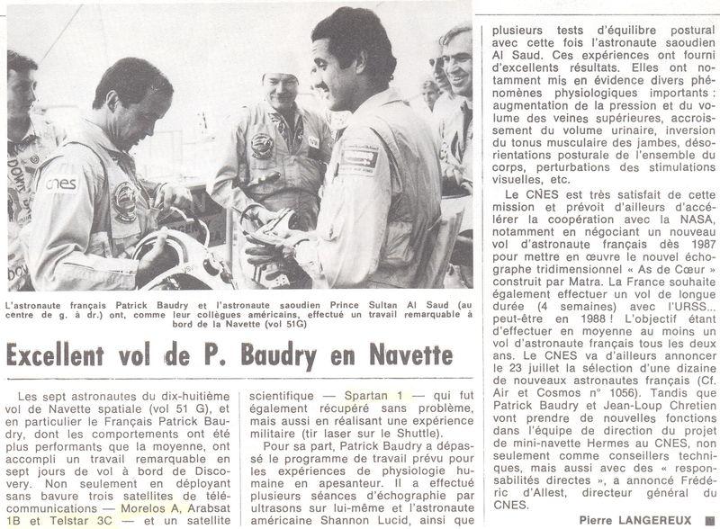 Patrick Baudry - 2ème Français dans l'espace - Page 2 85071310