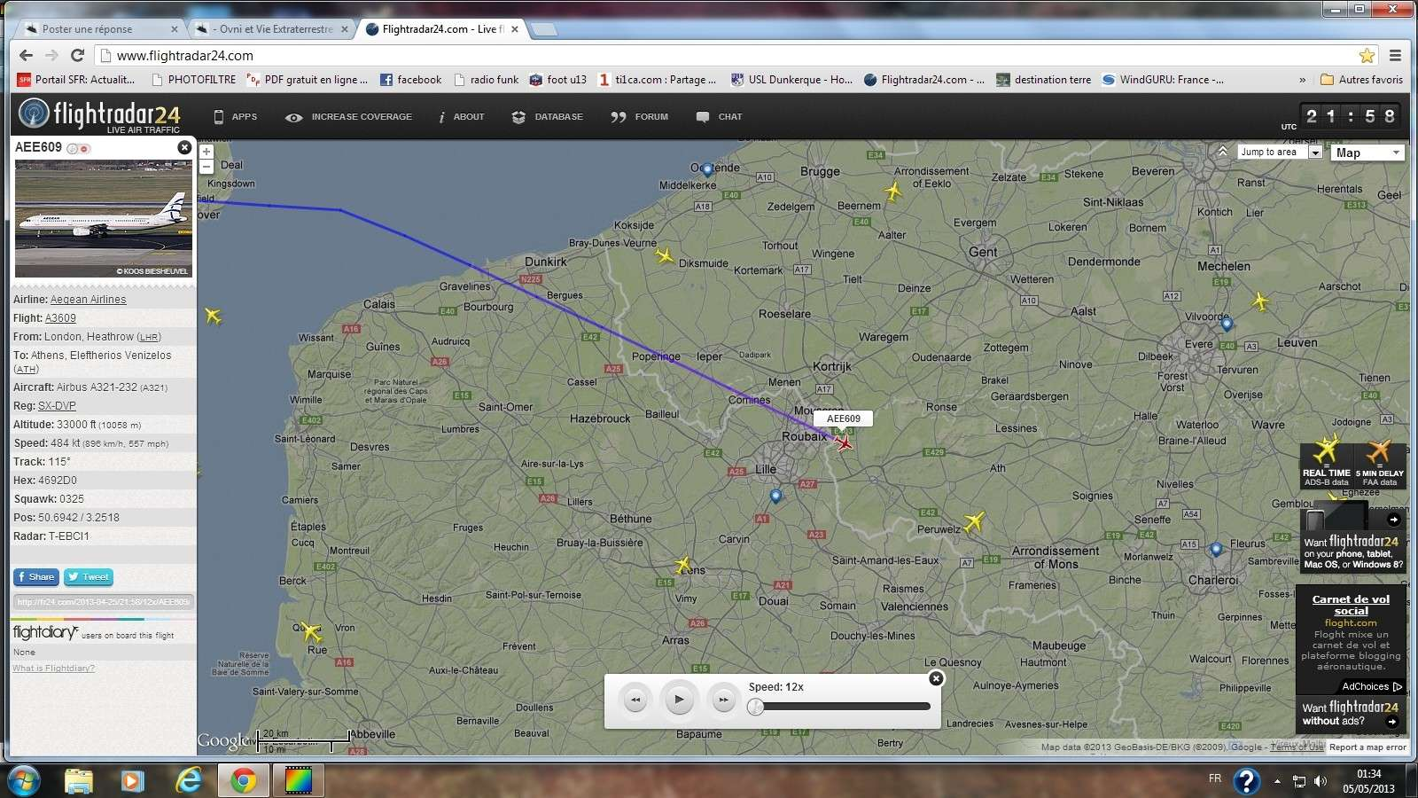 2013: le 26/04Lumière étrange dans le ciel  - Dunkerque (France)  - Page 2 Avion_12
