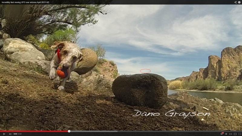 Un photographe film un ovni en arizona avec sa Gopro Chien110