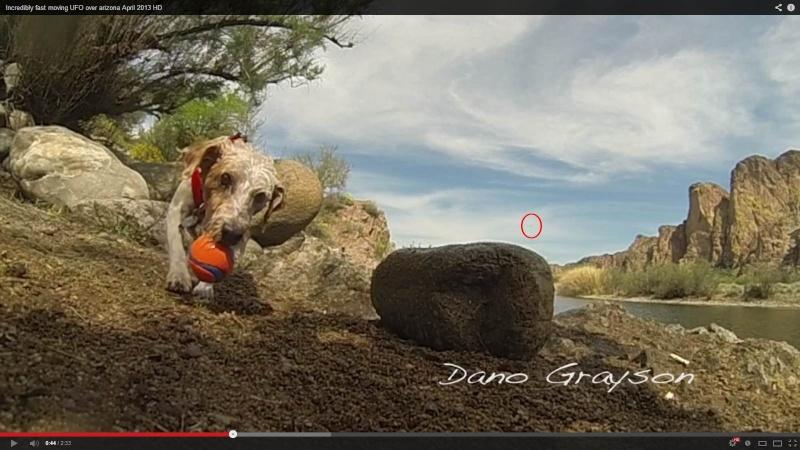 Un photographe film un ovni en arizona avec sa Gopro Chien210