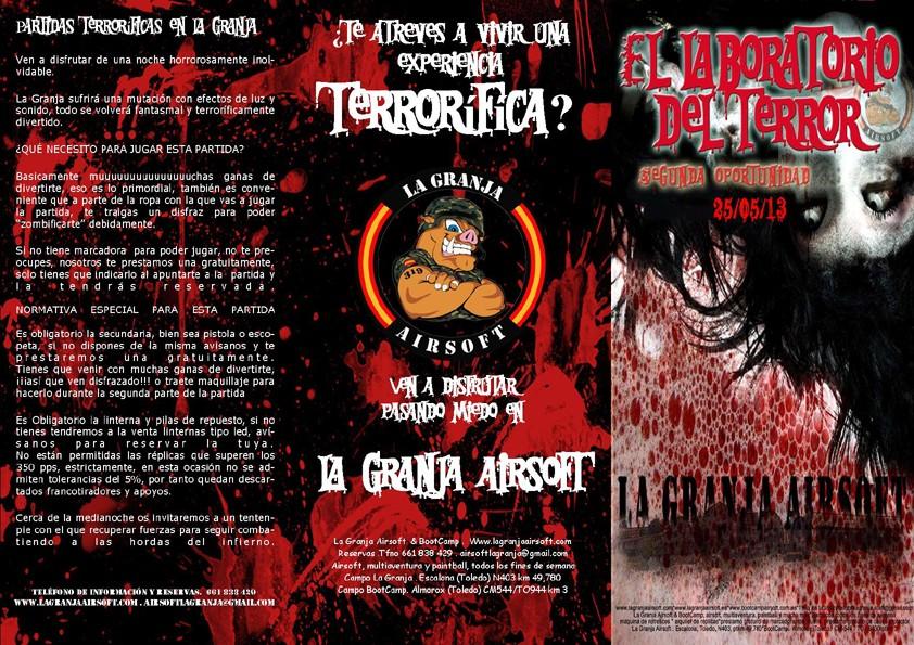 25/05/13 SÁBADO NOCTURNA  El Laboratorio del Terror – La Granja Airsoft                                                                                                                                                                                         Labora12