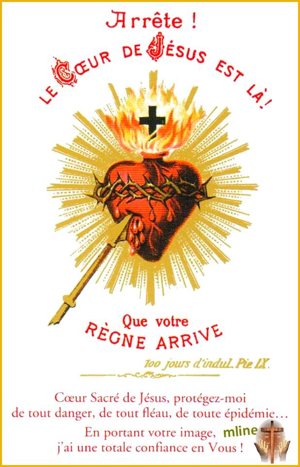 Pour vivre la Fête du Sacré Coeur avec maman Marie méditons  LE CHAPELET Coeur10