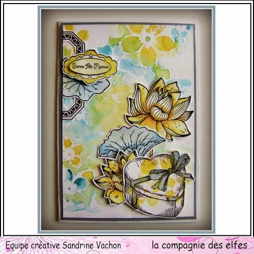 Carte fête des mères  26 mai 3/3 à programmer Carte175
