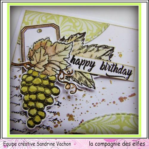 Carte automne vin et raisin 3/3  Carte302