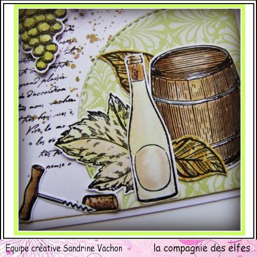 Carte automne vin et raisin 3/3  Carte303