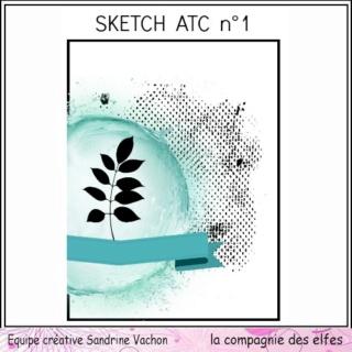 Challenge du 1er décembre sketch ATC. Sketch16