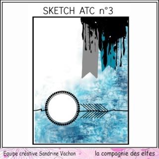 Challenge du 1er décembre sketch ATC. Sketch17