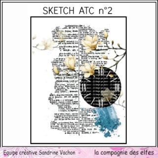 Challenge du 1er décembre sketch ATC. Sketch18