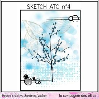 Challenge du 1er décembre sketch ATC. Sketch19