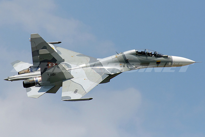 Four 1/72nd scale Flankers Su210