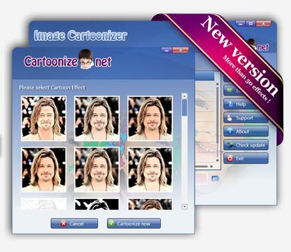 برنامج تحويل الصور الى كارتونية المميز Image Cartoonizer 3.4.0 كامل Imagec10