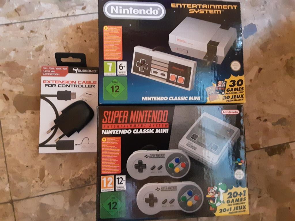 [VENDU] Lot NES mini ,  SNES Mini & Accessoires 20200614